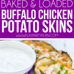Simple buffalo chicken stuffed potato skins recipe