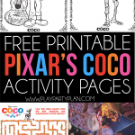 Free printable Pixar Coco coloring pages and activities