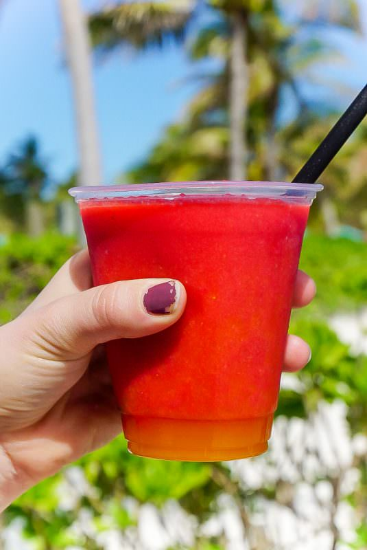 Drinks at Disney Castaway Cay are free other than frozen ones