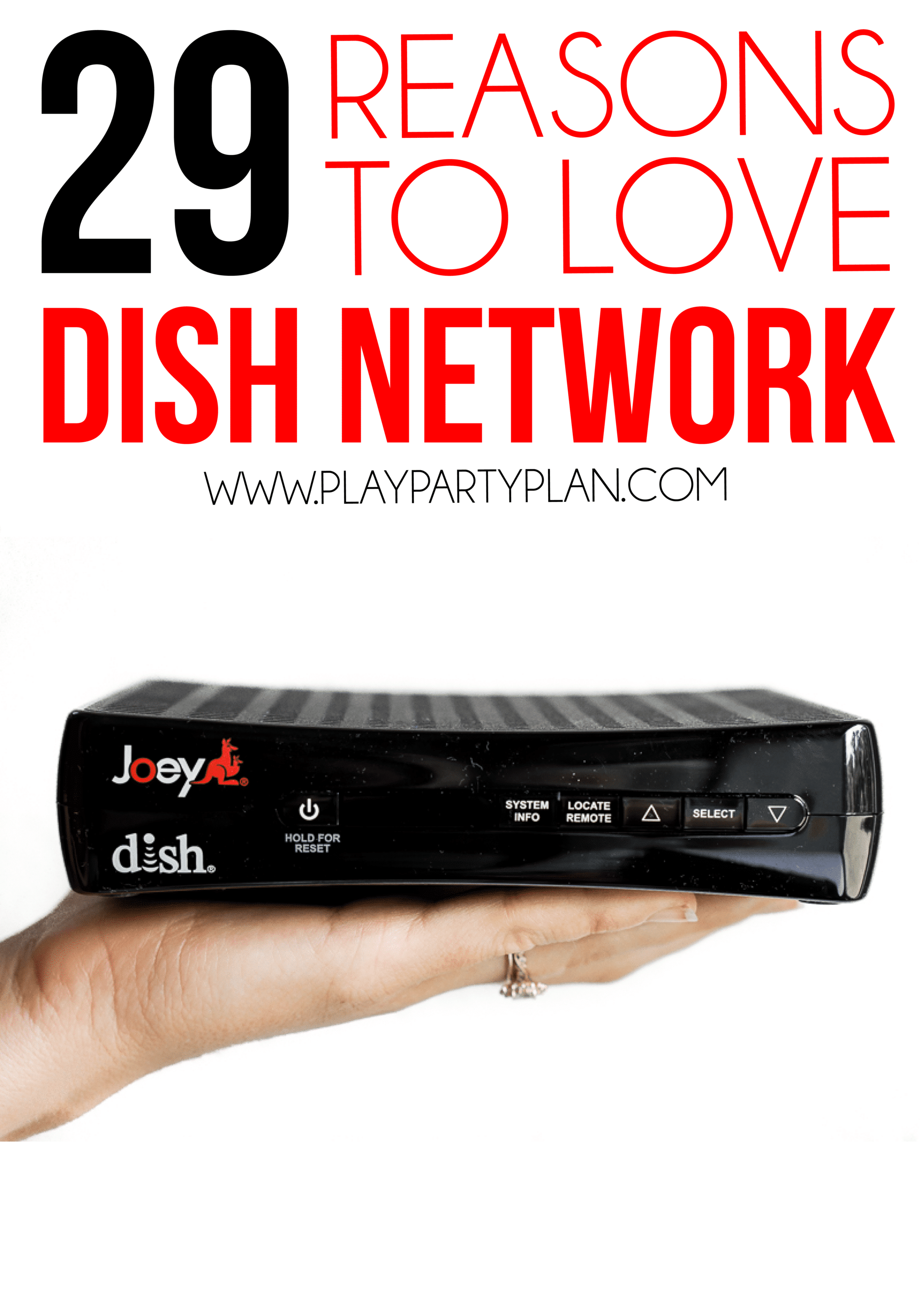 Tips, tricks, and hacks for getting the most of your DISH Network! And if you're not a DISH network customer yet, 29 reasons to sign up now! via @playpartyplan