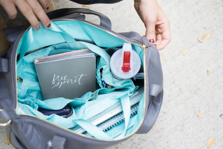The linen insert in this Lily Jade diaper bag is a huge perk!