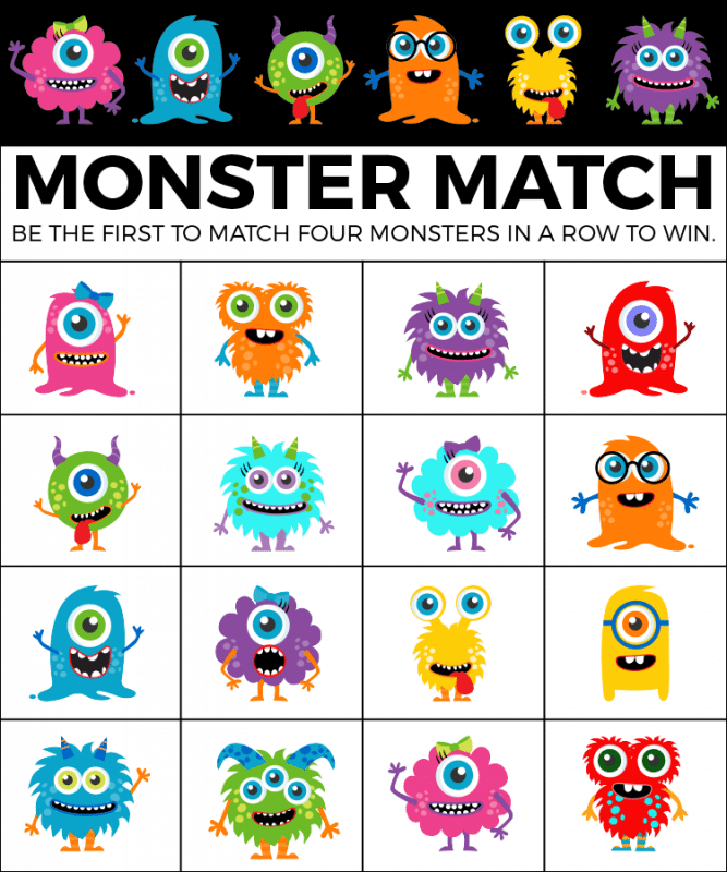 graphic about Printable Halloween Bingo Cards named Totally free Printable Halloween Bingo Playing cards and Monster Recreation Game titles