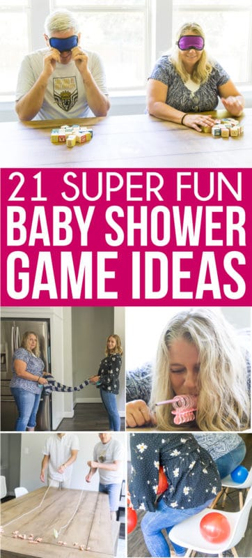 The best baby shower games! Tons of great ideas for boys, for girls, for coed showers, and for large groups! They're funny, unique, and perfect for any type of baby shower!