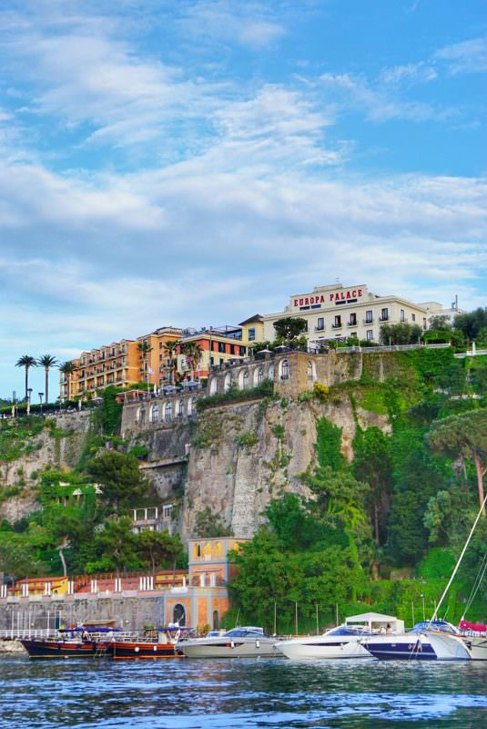 Seaside in Sorrento Italy dreaming about gnocchi Sorrentina