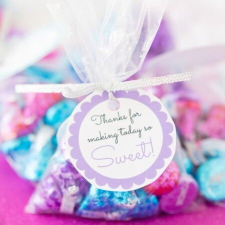 sweet baby shower favor tags