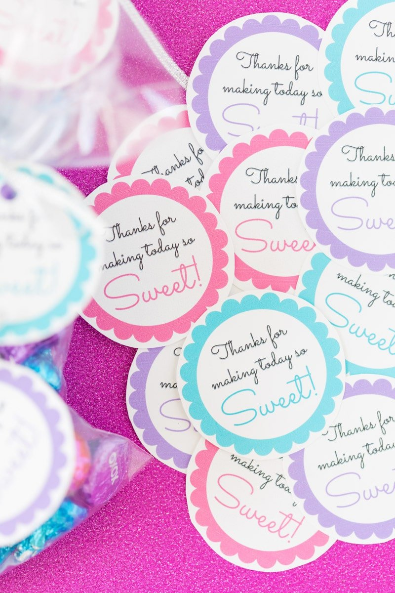 picture regarding Free Printable Favor Tags named Absolutely free Printable Little one Shower Like Tags in just 20+ Shades - Perform