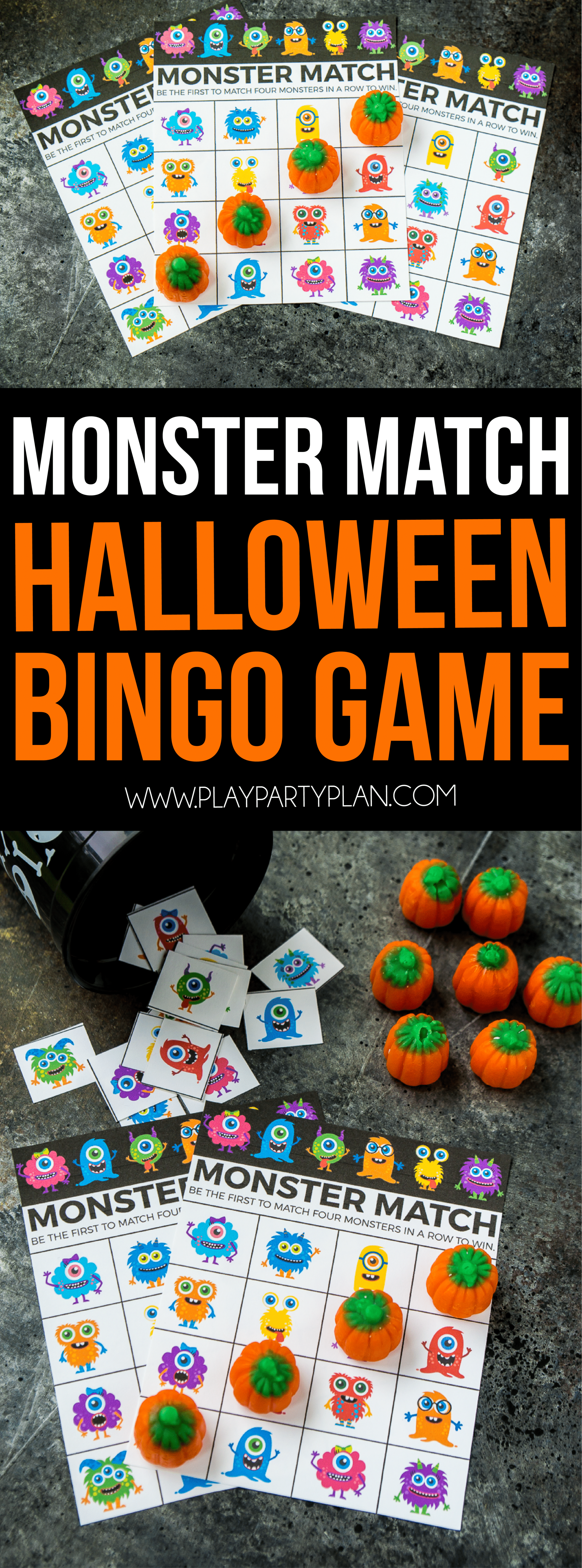 dont forget to pin these halloween bingo cards for later - Preschool Halloween Bingo