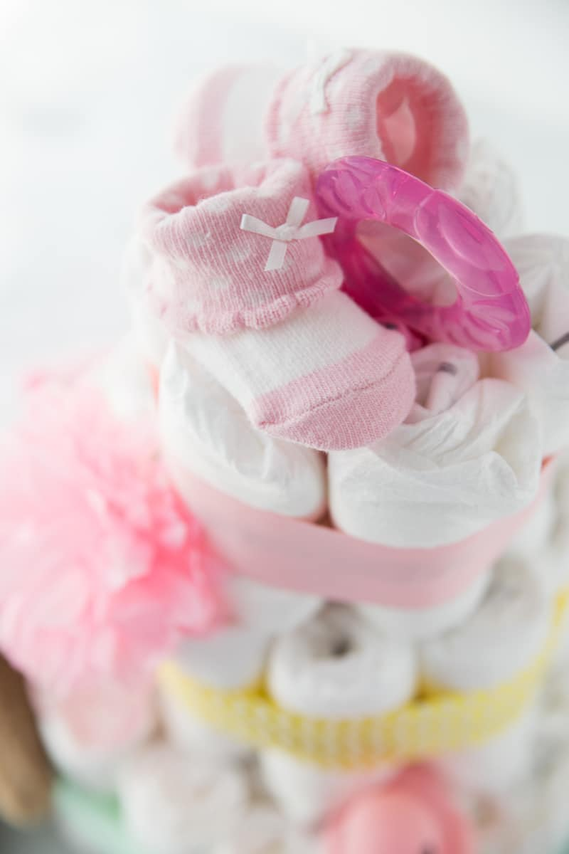 How to make a diaper cake step by step tutorial