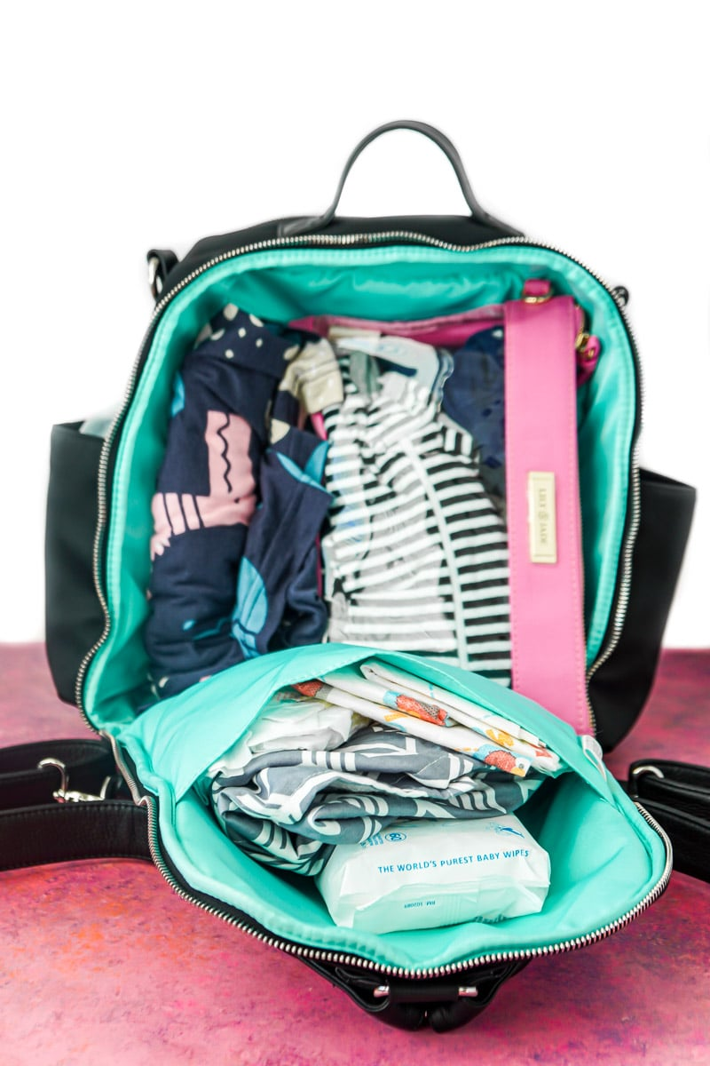 Lily Jade diaper bag pockets