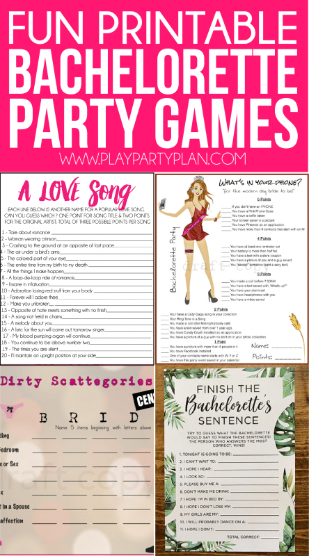 Printable Bachelorette Party Games Are Perfect