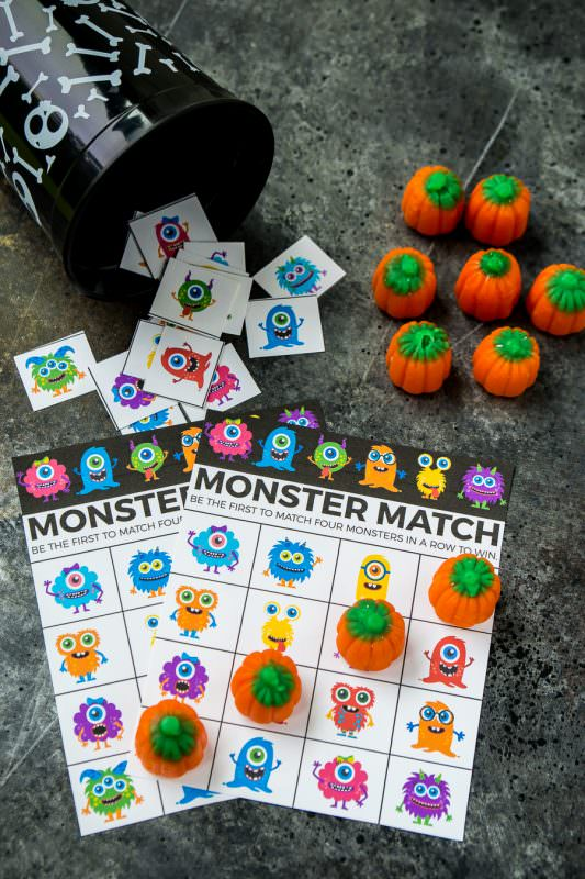 graphic regarding 25 Printable Halloween Bingo Cards referred to as Free of charge Printable Halloween Bingo Playing cards and Monster Recreation Online games