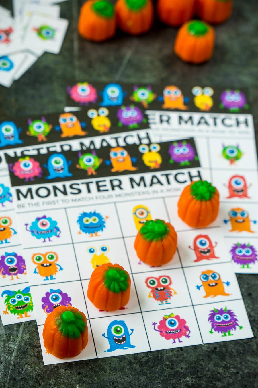 graphic relating to Printable Halloween Bingo Cards known as Totally free Printable Halloween Bingo Playing cards and Monster Video game Video games