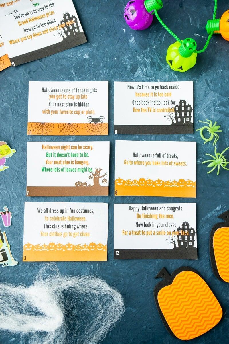 Halloween scavenger hunt riddles
