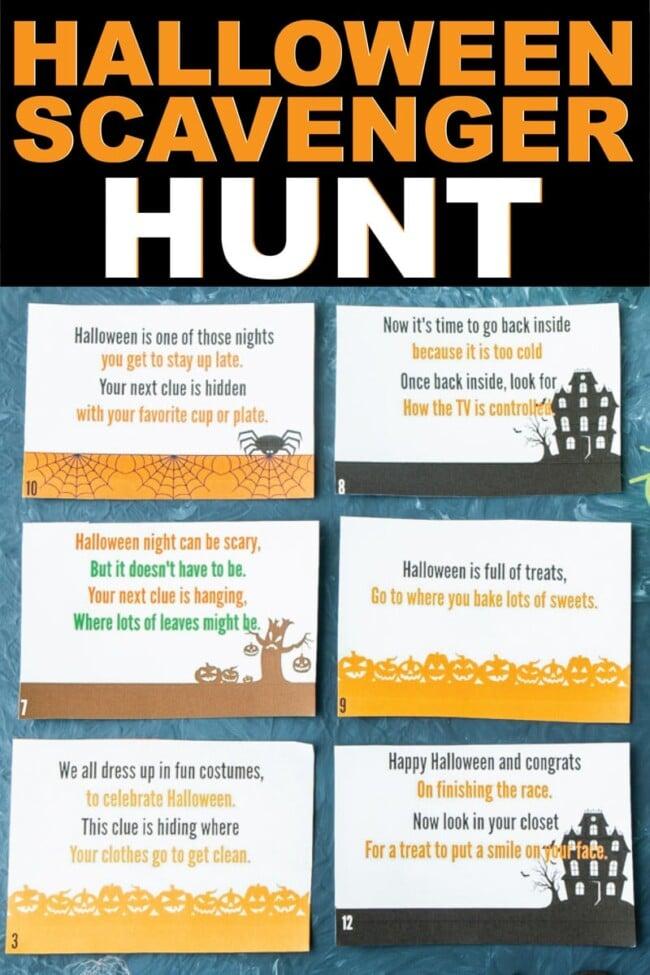 Halloween Games   Halloween Scavenger Hunt   Beanstalk Mums