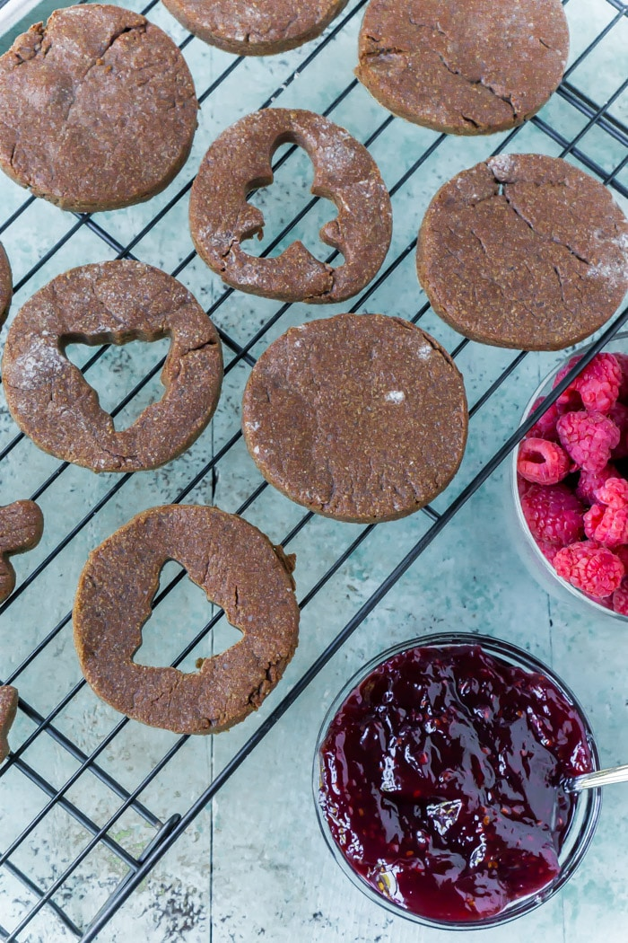 Don't forget to let linzer cookies cool