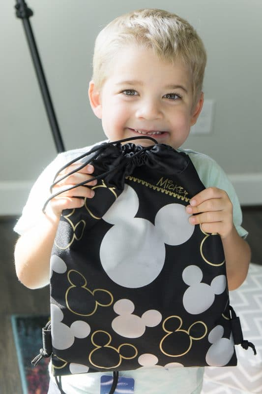 Mickey drawstring backpacks make great fish extender gifts