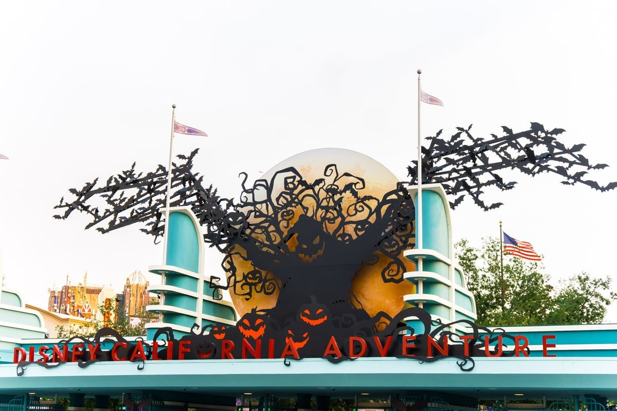 California Adventure entrance during Disneyland Halloween Time