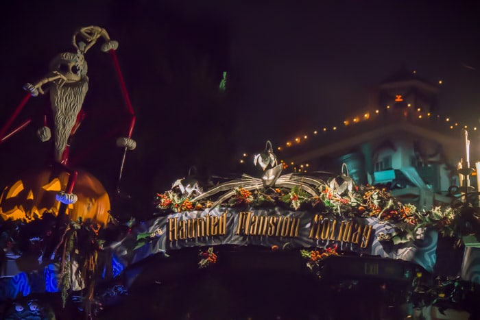 Jack Skellington at Haunted Mansion during Disneyland Halloween