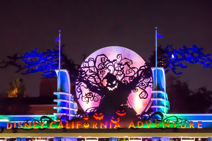 Oogie Boogie man at Disneyland Halloween Time in California Adventure