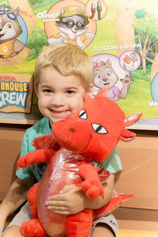 Create a red dragon at Great Wolf Lodge