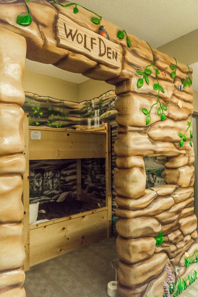 Splurge on a themed suite at Great Wolf Lodge