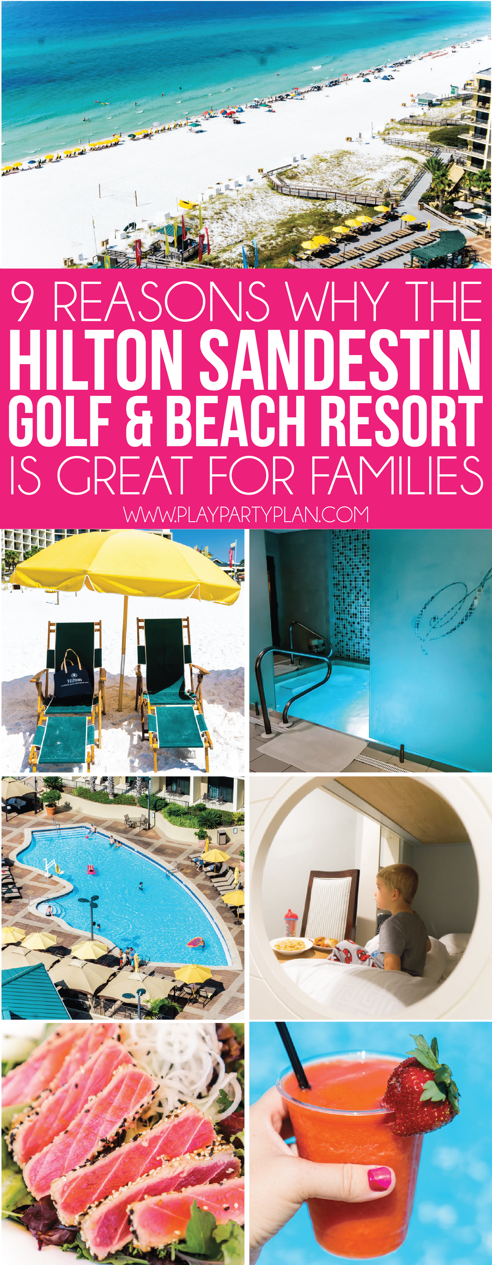 Find out why families will love the Hilton Sandestin Golf and Beach resort! Beautiful spas, great spots for a wedding, floor for just families, and more!