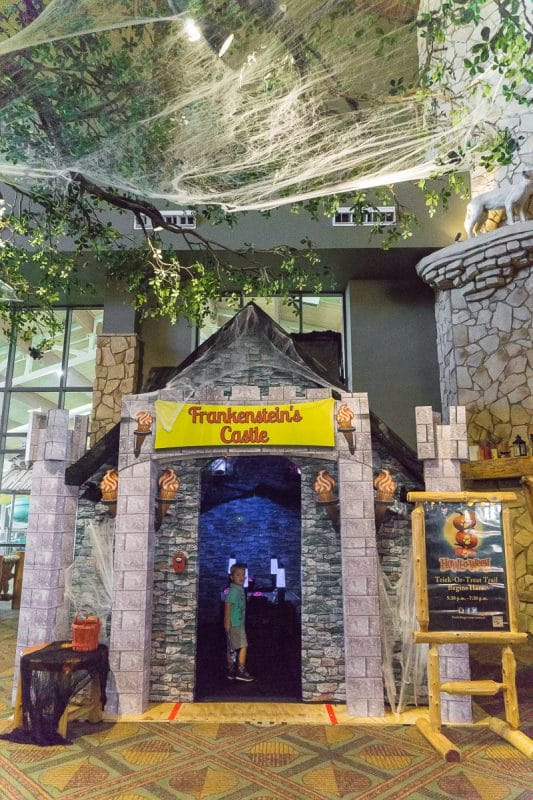 The Frankenstein house was a spooky attraction at Howloween