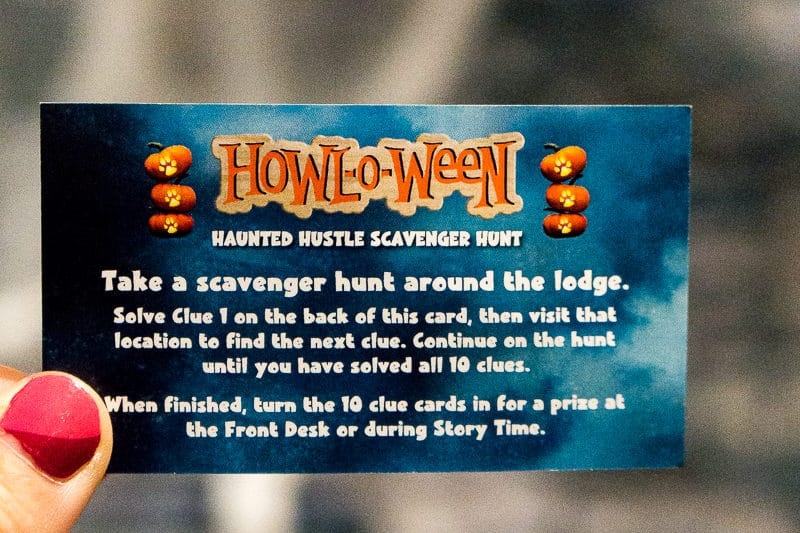 A fun Halloween scavenger hunt for Howloween at Great Wolf