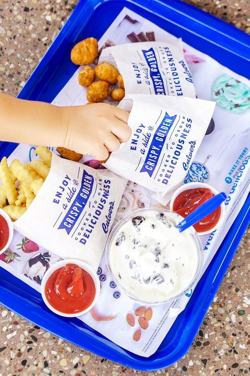 Don't forget to grab some Culver's cheese curds