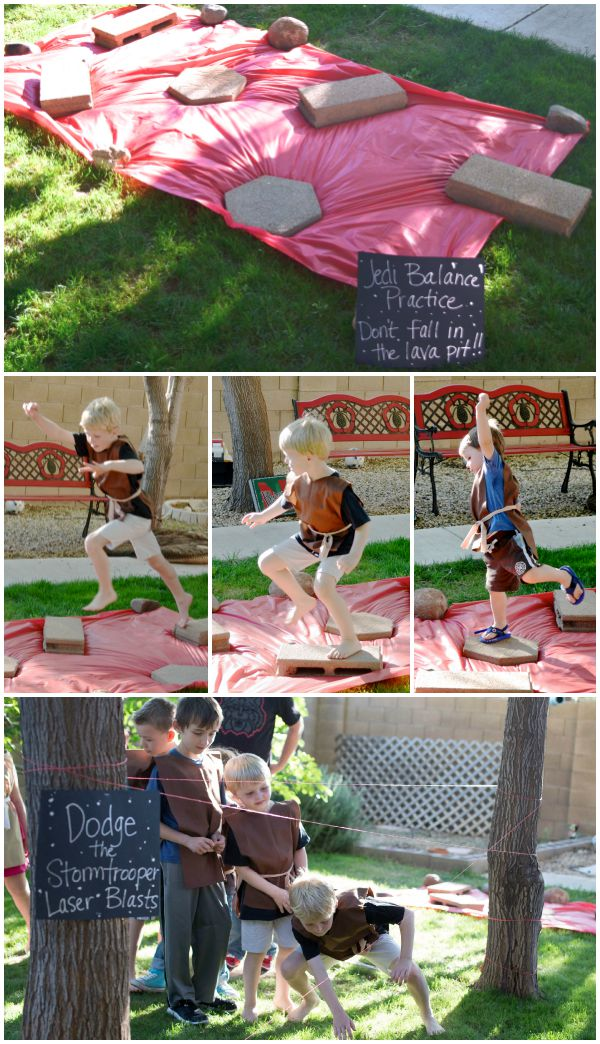 Star Wars party games like obstacle courses keep kids busy