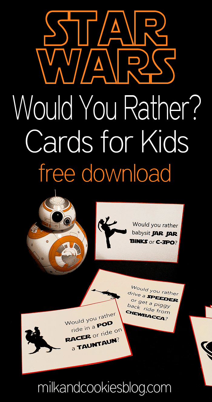 Star Wars would you rather questions - fun Star Wars party games