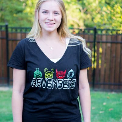DIY Revengers Thor Shirt with Free Cut File