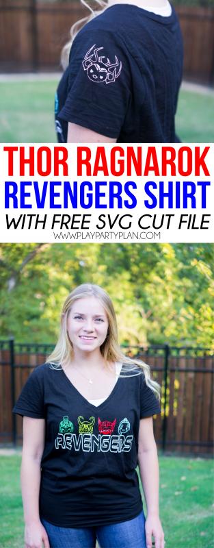 Simple DIY Thor Shirt inspired by the Thor Ragnarok movie