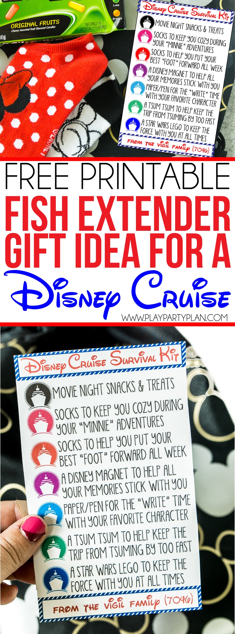 These DIY fish extender gifts are the cutest and so unique! Simply print out the tag, purchase the items that go in the survival kit, and you have an easy idea that works great for adults, for teens, for men, for women, for girls, for boys, and everyone in between. Or skip the survival kit and break the ideas into a cheap alternative with just one of the gifts! via @playpartyplan