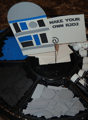 Building R2D2 is one of the best Star Wars party games for adults or kids