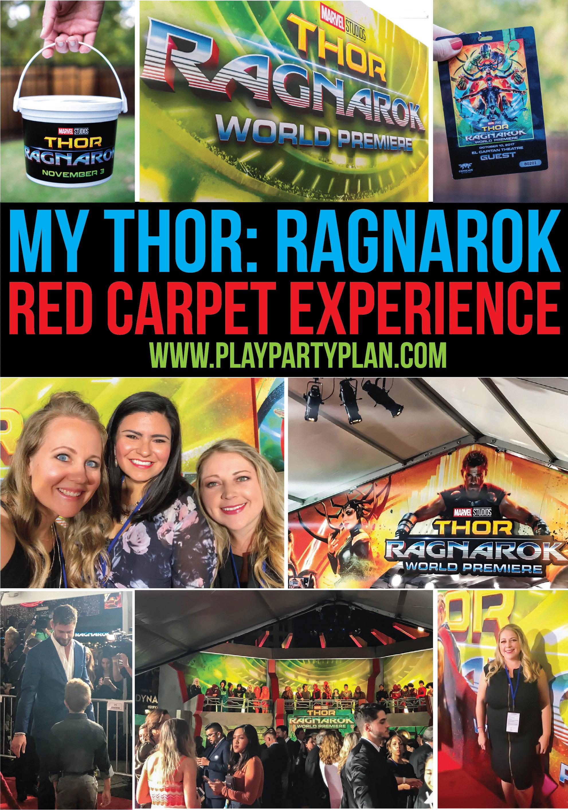 A Marvelous Night at the THOR: RAGNAROK Red Carpet World Premiere #ThorRagnarokEvent via @playpartyplan