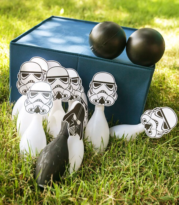 Knock down storm troopers in these easy Star Wars party games