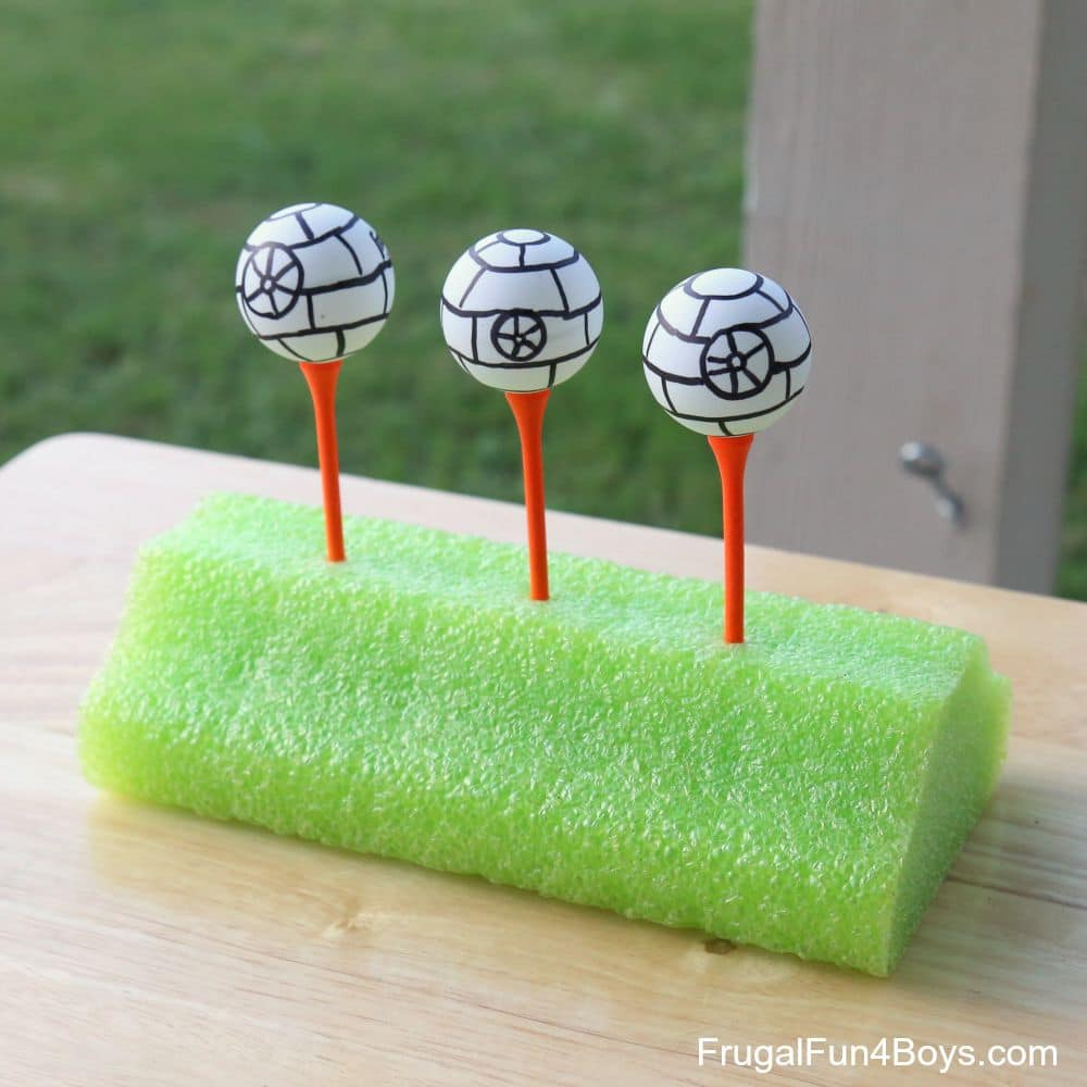 These fun Star Wars party games include things like shooting death stars