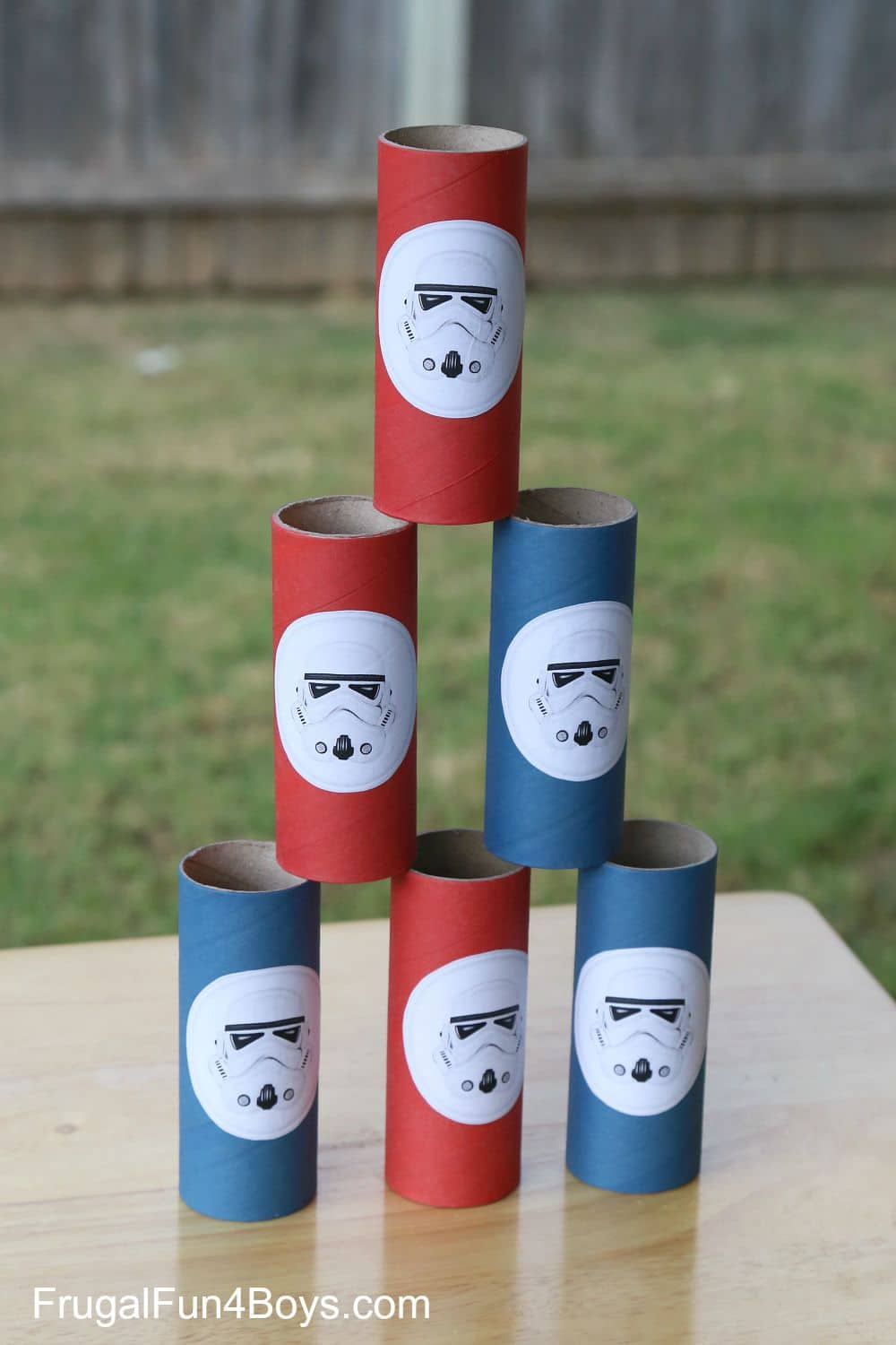 Try to knock down storm troopers in these fun Star Wars birthday party games