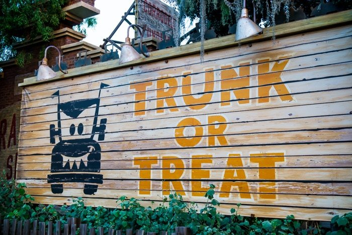 Disneyland Halloween Time Trunk or Treat sign