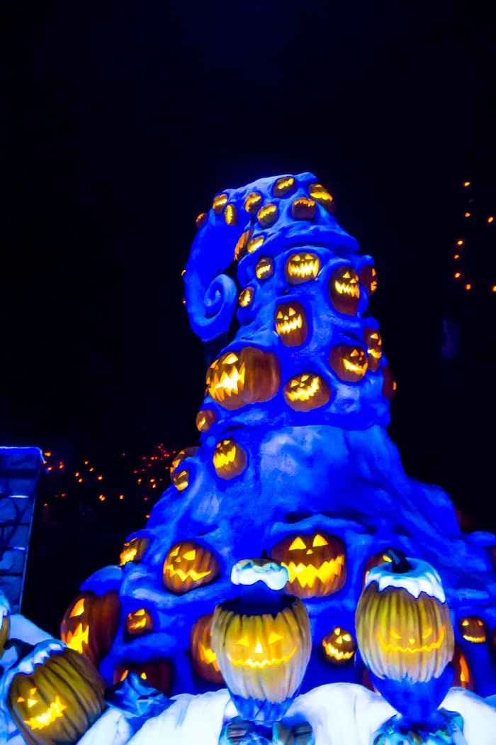 Haunted Mansion Nightmare Before Christmas Overlay at Disneyland Halloween