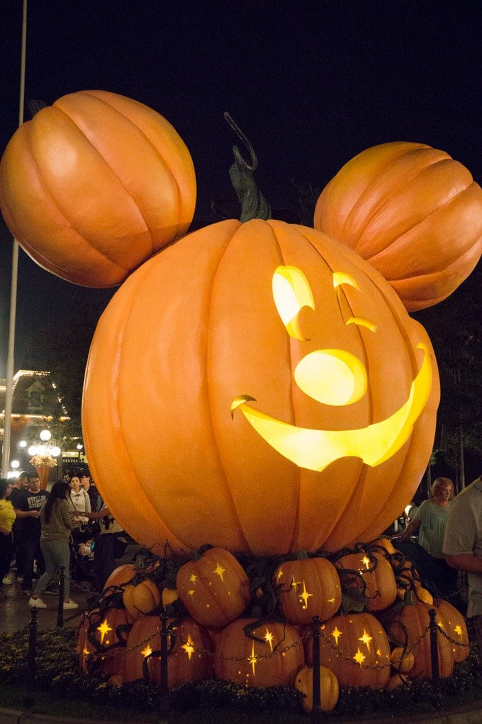 Mickey Pumpkins at Disneyland Halloween Time