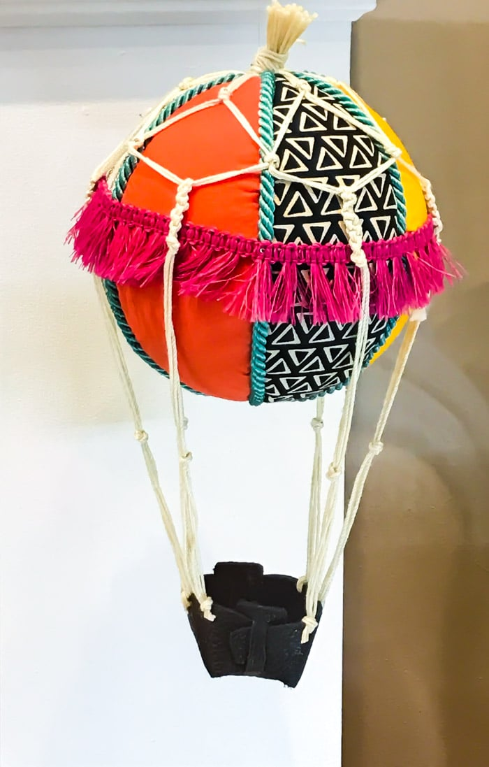 Hot air balloon made with Cricut Maker