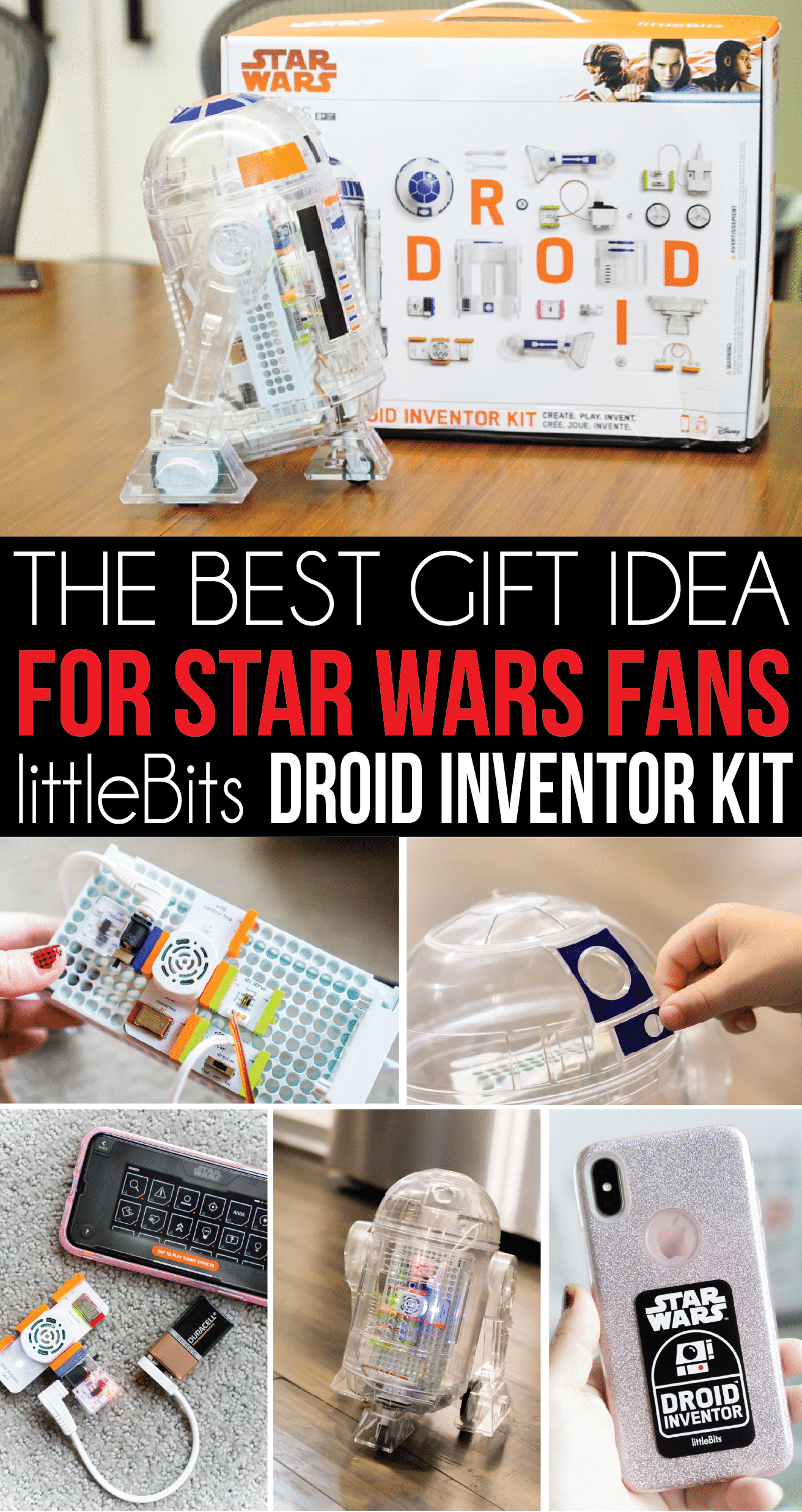The best gift for Star Wars fans young and old! Find out why anyone who loves Star Wars needs a littleBits Droid Inventor Kit of their own! The perfect gift for him or her! via @playpartyplan