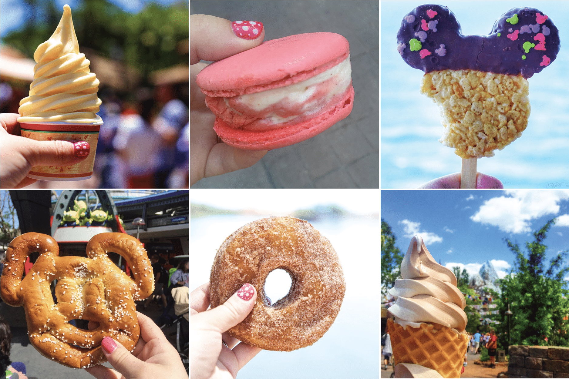 Pictures of Disney snacks at Walt Disney World