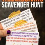 Free printable Thanksgiving scavenger hunt for kids or teens