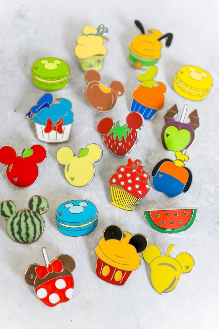 Disney food pins are one of our favorite things to trade