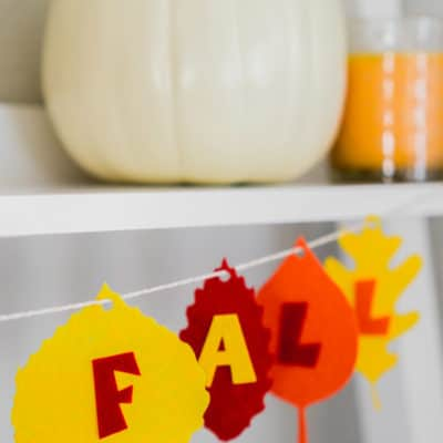 DIY Felt Happy Fall Banner
