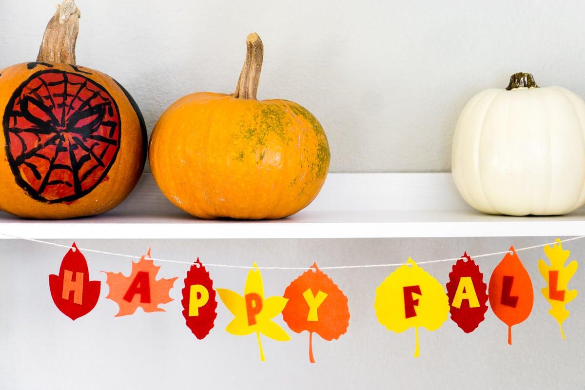 A simple felt fall banner