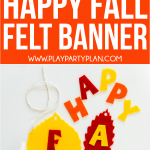 This happy fall banner can be made quickly with a Cricut Maker and the free template included! It's one of the easiest DIY fall banner ideas ever!